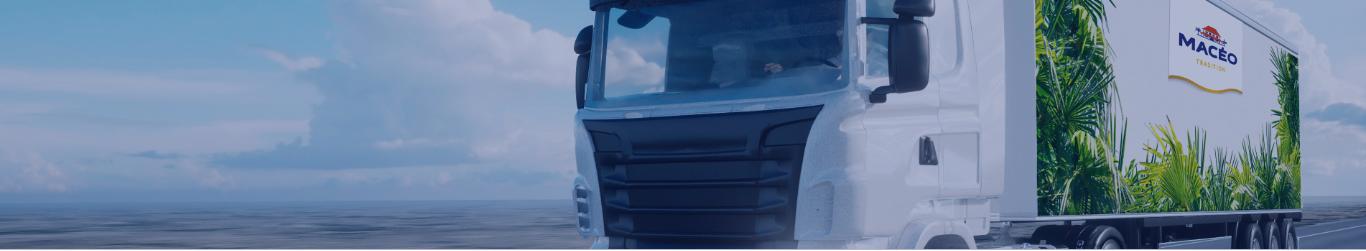 En tête camion de transport macéo sur la route vente aux professionnels