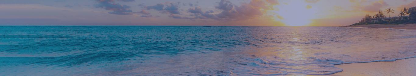 En tête paysage plage exotique soleil couchant page Nous recrutons
