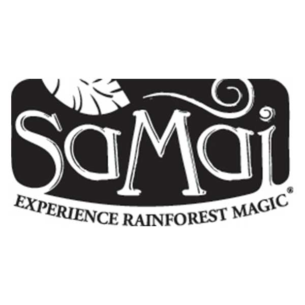 logo de la marque SAMAI en noir et blanc