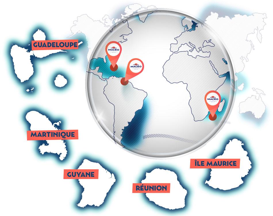 Carte localisation des îles Macéo