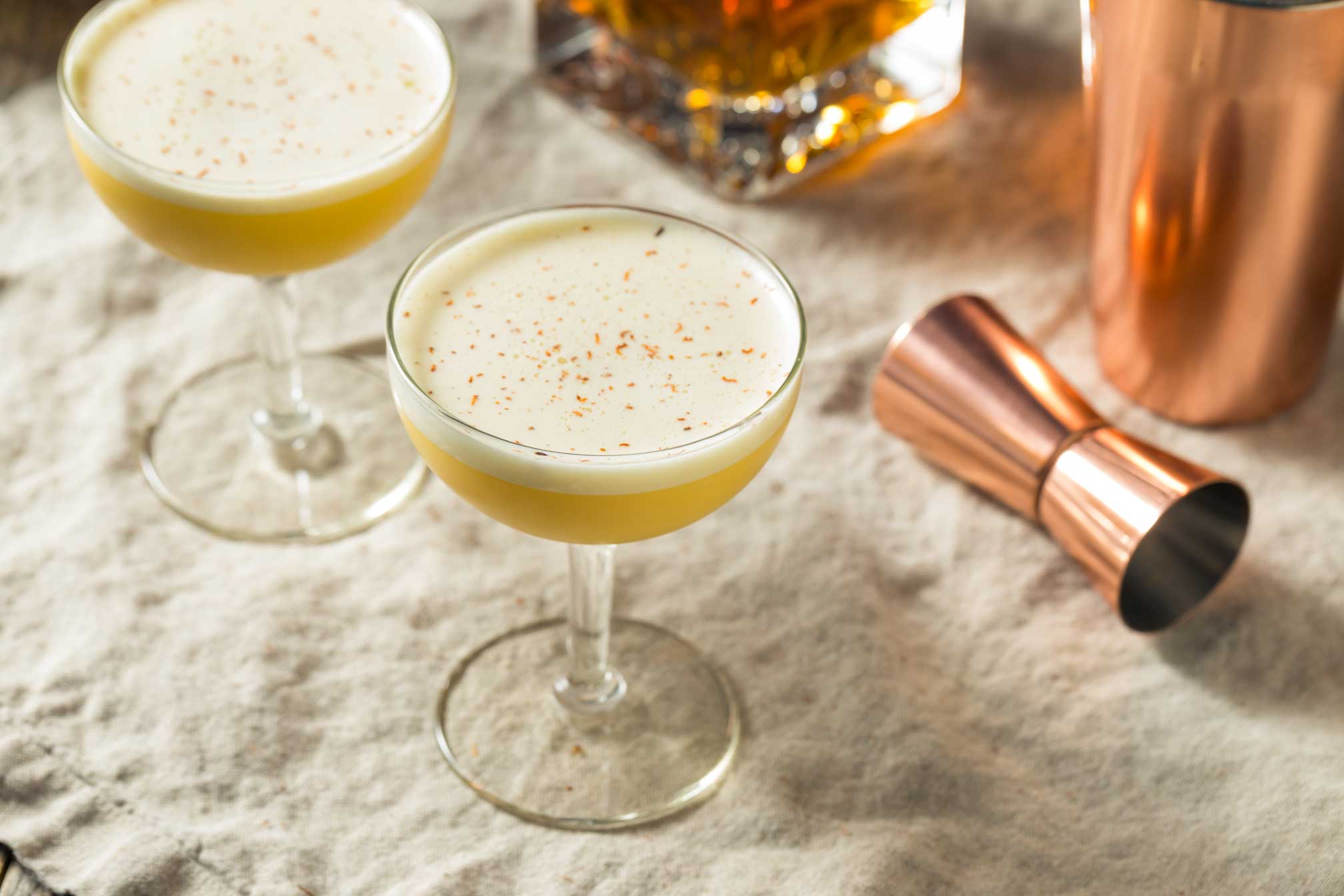 image de cocktail Rhum sour vue de haut