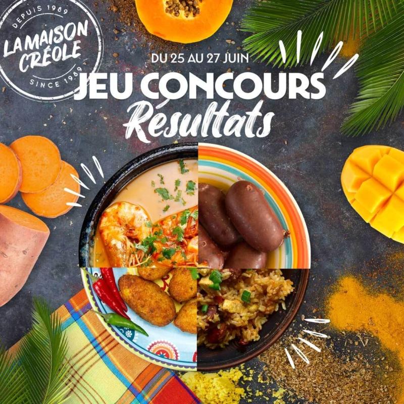 visuel jeu concours la maison creole quiz quel est votre plat préféré