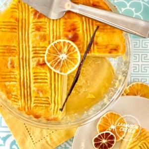 photo gâteau à la patate douce orange et vanille